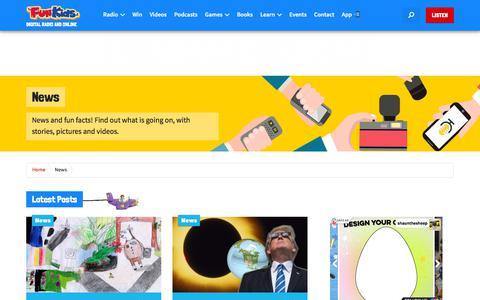 Screenshot of Press Page funkidslive.com - News Section - Fun Kids - the UK's children's radio station - captured Aug. 24, 2017