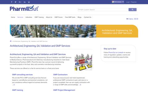 Architectural, Engineering, QA and Validation GMP Services