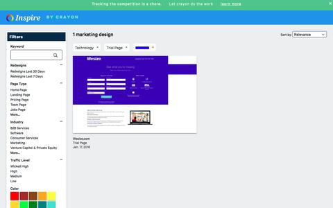 Screenshot of Trial Page crayon.co - Technology Trial Pages | Website Inspiration and Examples | Crayon - captured Nov. 26, 2019