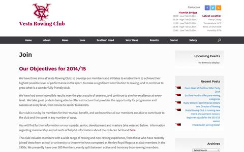 Screenshot of Signup Page vestarowing.co.uk - Join - Vesta Rowing Club - captured Oct. 26, 2014