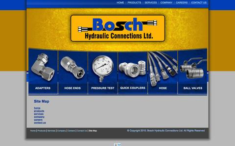 Screenshot of Site Map Page boschhydraulic.com - Site Map - captured Oct. 5, 2014