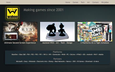 Screenshot of Home Page wahoo.com - Wahoo Studios - captured Oct. 7, 2014