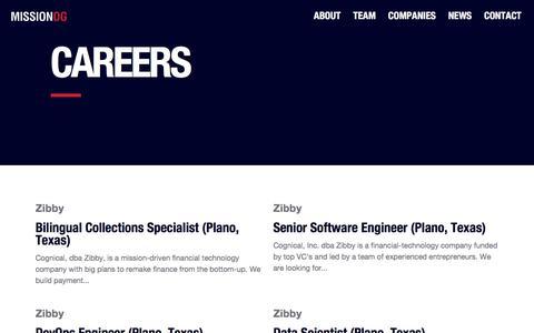 Screenshot of Jobs Page missionog.com - Careers – MissionOG - captured Sept. 20, 2018