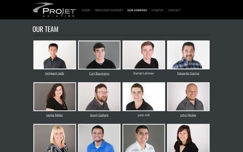 Screenshot of Team Page projetaviation.com - ProJet Aviation | Leesburg, VA | Our Team - captured July 22, 2018