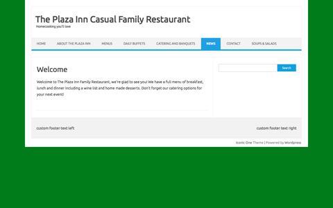 Screenshot of Press Page plazainn.net - News   The Plaza Inn Casual Family Restaurant - captured July 5, 2017