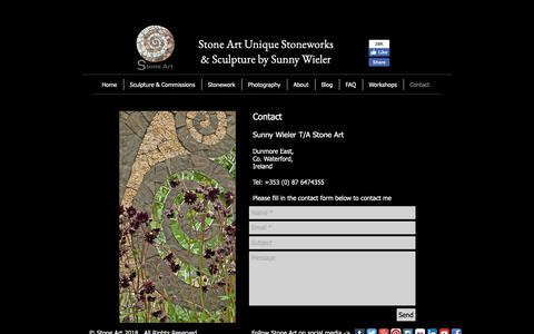 Screenshot of Contact Page stoneart.ie - Contact Stone Art - captured Oct. 20, 2018