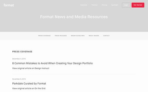 Portfolio Website Themes — Format