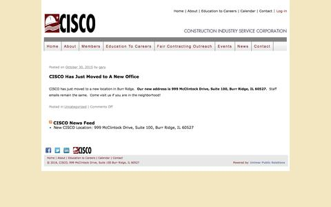 Screenshot of Press Page cisco.org - CISCO    Construction Industry Service Corporation - captured Nov. 11, 2016