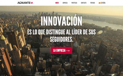 Screenshot of Home Page agnante.com - Agnante Inversor | Capital privado | Capital Riesgo | Barcelona - captured Jan. 23, 2015