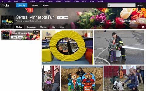 Screenshot of Flickr Page flickr.com - Flickr: The Central Minnesota Fun Pool - captured Oct. 23, 2014