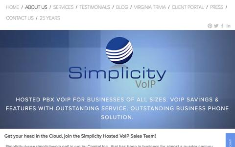 Screenshot of Jobs Page simplicityvoip.net - Hosted VoIP For Your Business | Reliable | Scalable | Flexible | Simple-Work For Simplicity VoIP - captured Dec. 19, 2016