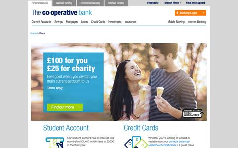 Screenshot of Home Page co-operativebank.co.uk - The Co-operative Bank | Personal banking | Online banking - captured Sept. 18, 2014