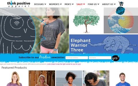 Screenshot of Home Page thinkpositiveapparel.com - Think Positive Apparel - captured July 10, 2018