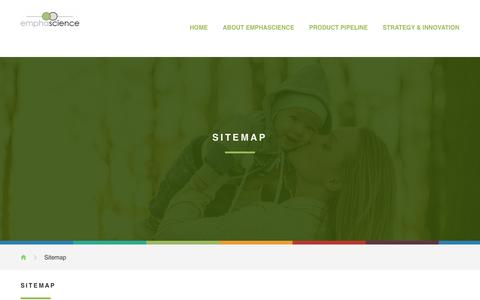 Screenshot of Site Map Page emphascience.com - Emphascience, Inc. - captured Nov. 6, 2016