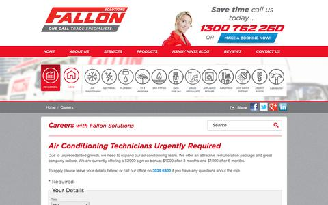 Screenshot of Jobs Page fallonsolutions.com.au - Careers with Fallon Solutions | Employment Application - captured Nov. 24, 2016