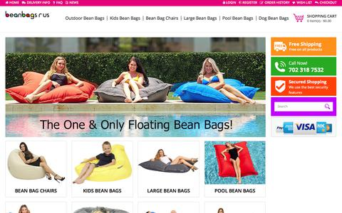 Screenshot of Home Page bean-bags-r-us.com - The Coolest Bean Bags On The Planet | Bean Bags R Us America - captured Oct. 10, 2017