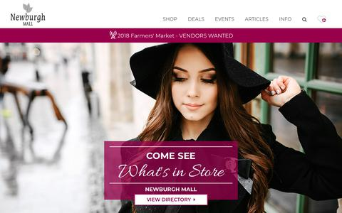 Screenshot of Home Page newburghmall.com - Newburgh Mall ::: Newburgh ::: NY - captured June 10, 2018