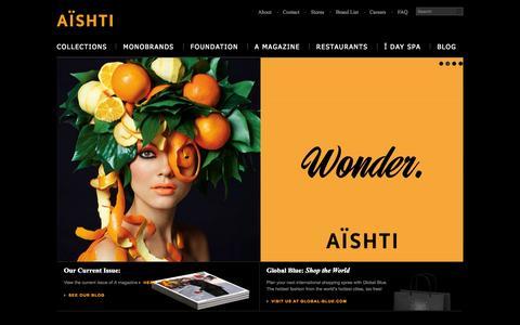 Screenshot of Home Page aishti.com - Aishti - captured Sept. 22, 2014