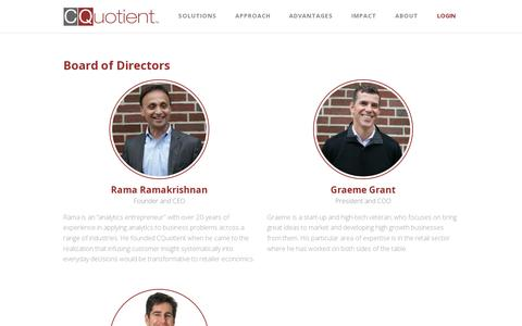 Screenshot of Team Page cquotient.com - Team Members Archive - CQuotient : CQuotient - captured July 19, 2014
