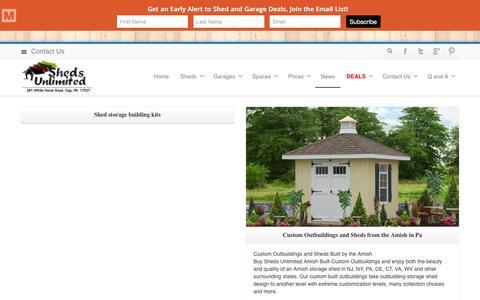 Screenshot of Press Page shedsunlimited.net - Sheds Unlimited Storage Sheds and Garages in PA Blog - Sheds Unlimited of Lancaster - captured Jan. 20, 2016