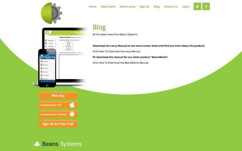 Screenshot of Blog beanssystems.co.uk - Blog - Beans Systems - captured Sept. 30, 2014