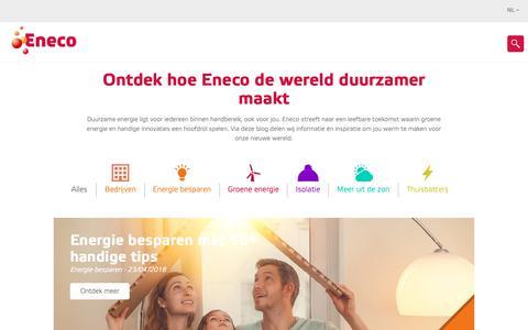 Screenshot of Blog eneco.be - Eneco Blog - captured June 10, 2019