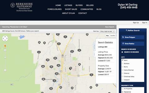Screenshot of Maps & Directions Page dylandarling.com - Residential in Bend - captured Oct. 5, 2014