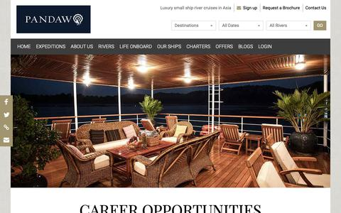 Screenshot of Jobs Page pandaw.com - Careers at Pandaw | Pandaw.com - captured Dec. 14, 2018