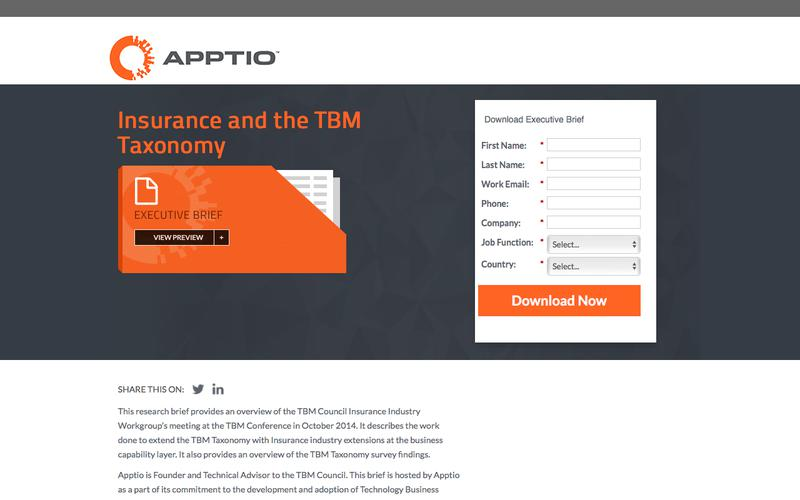 Insurance and the TBM Taxonomy
