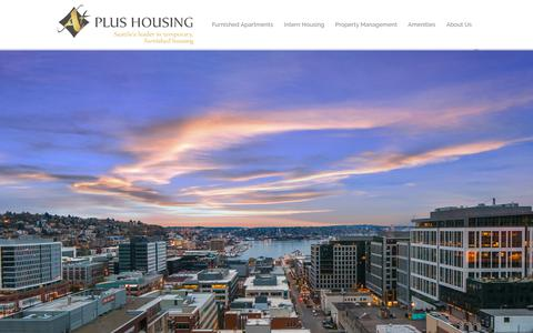 Screenshot of Home Page aplusnw.com - A Plus Housing | Temporary furnished housing in Seattle - captured Oct. 7, 2017