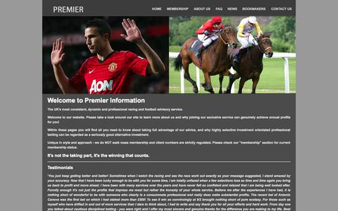 Screenshot of Home Page premier-information.co.uk - Home   Premier Information - captured Sept. 30, 2014