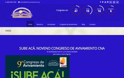 Screenshot of Home Page centronuevoamanecer.org - Centro Nuevo Amanecer AC - captured July 21, 2017