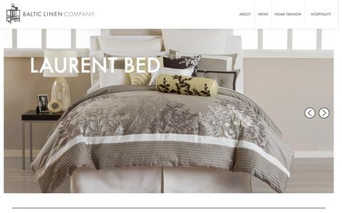 Screenshot of Home Page balticlinen.com - Baltic Linen - captured Dec. 29, 2015