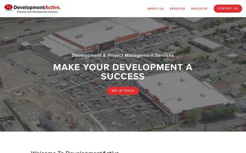 Screenshot of Home Page developmentactive.com - Development Active - captured Nov. 14, 2018