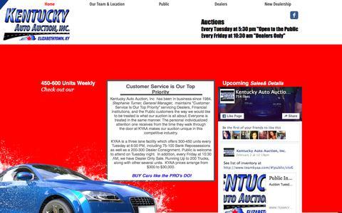 Screenshot of Home Page teamkyaa.com - teamkyaa - captured Feb. 12, 2016
