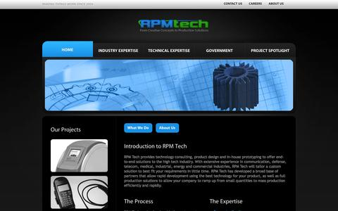 Screenshot of Home Page rpm-tech.com - RPM TECH - captured Oct. 7, 2014