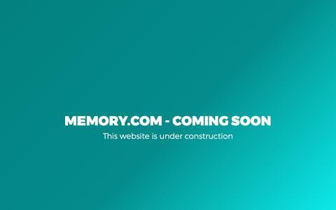 Screenshot of Home Page memory.com - MEMORY.com - captured Oct. 3, 2018