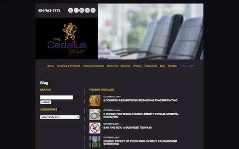 Screenshot of Blog thecedaliusgroup.com - » Blog - captured Oct. 26, 2014
