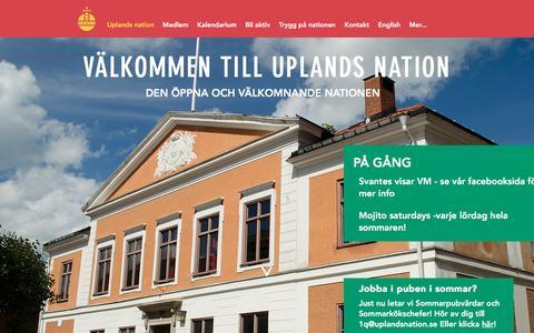 Screenshot of Home Page uplandsnation.se - Uplands nation - captured June 28, 2018