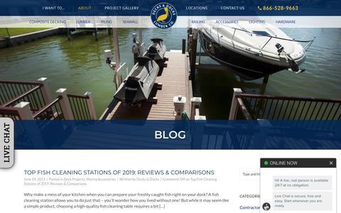 Screenshot of Blog decks-docks.com - Blog - Decks & Docks Lumber Company - captured June 20, 2019