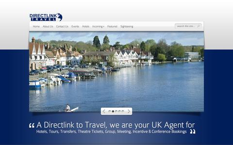 Screenshot of Home Page Terms Page directlinktravel.co.uk - Directlink Travel | - captured Oct. 7, 2014