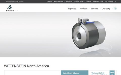 Screenshot of Home Page wittenstein-us.com - WITTENSTEIN North America - captured Nov. 23, 2017