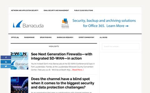 Barracuda – Security, Access and Reliability for Cloud-Connected Networks and Applications