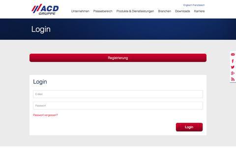 Screenshot of Login Page acd-gruppe.de - Login - ACD Gruppe - captured Oct. 6, 2017