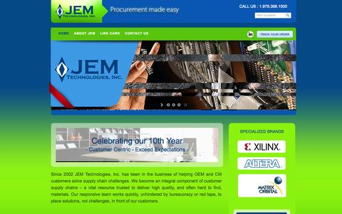 Screenshot of Home Page jemtechnologies.com - JEM Technologies - Procurement Made Easy : JEM Technologies - captured Oct. 4, 2014