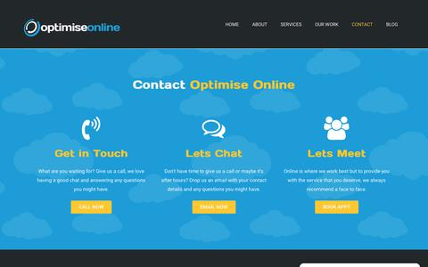 Screenshot of Contact Page optimiseonline.com.au - Contact - Optimise Online - captured Oct. 20, 2018