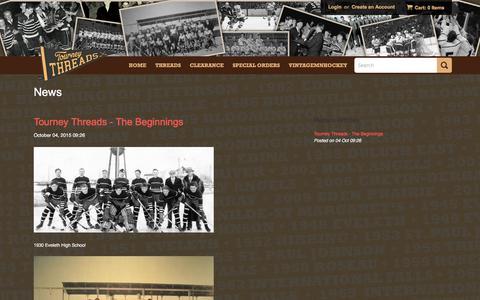 Screenshot of Press Page tourneythreads.com - News – TourneyThreads - captured Dec. 19, 2016