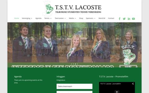 Screenshot of Login Page tstvlacoste.nl - Home - T.S.T.V. Lacoste - captured Aug. 4, 2015