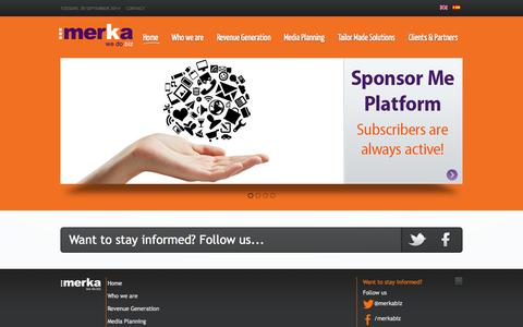 Screenshot of Home Page merka.biz - Merka.biz, We do Biz! - Home - captured Sept. 30, 2014
