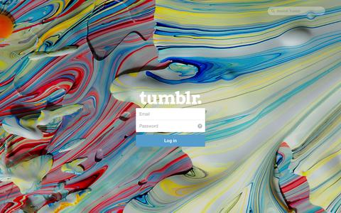 Screenshot of Tumblr Page tumblr.com - Log in | Tumblr - captured Oct. 22, 2014